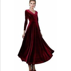 Dresses & Skirts - Ruby Red Velvet Dress